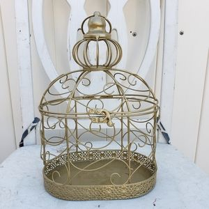 Beautiful small Gold birdcage